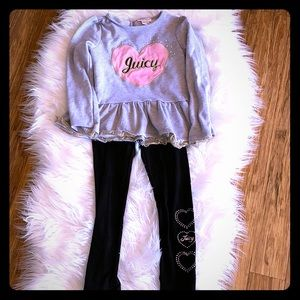 Adorable Juicy Couture Ruffle Tunic with Leggings
